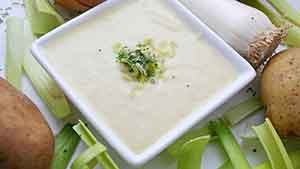 Рецепт крем-супа из картофеля и лука-порея