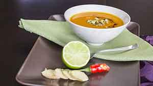Рецепт тыквенного супа с красным перцем