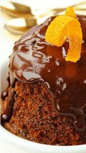 Приготовление апельсиново-шоколаднго кекса в кружке