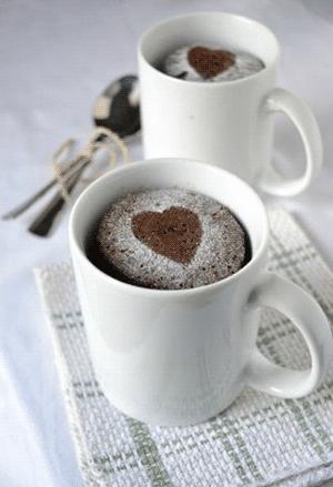 Рецепт кофейно-шоколадного кекса в кружке
